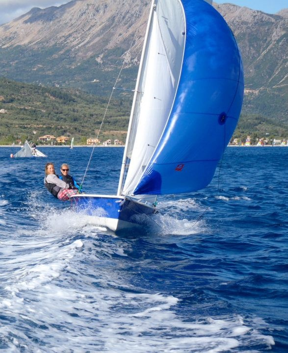 Sailing Spinnaker Laser 2000 Sailing Photo From Flying