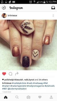25+ best ideas about Fall gel nails on Pinterest | Fall ...