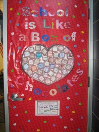 """School is Like a Box of Chocolates"" Valentine's Door"