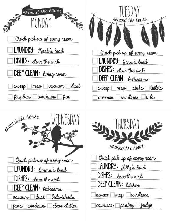 1000+ ideas about Chore List Printable on Pinterest