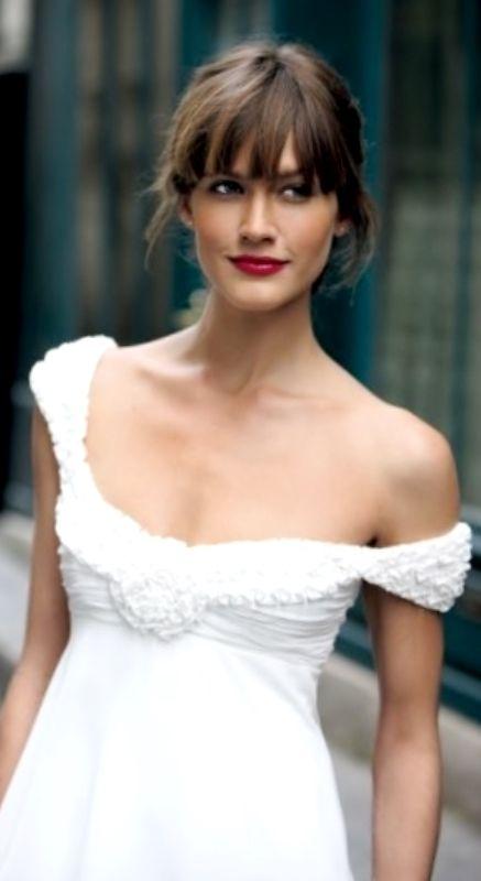 25 Best Ideas About Wedding Hair Bangs On Pinterest Bridal Hair