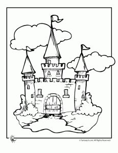 Castle Coloring pages, w/ links to other fairy tale
