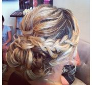 braided hair updos long
