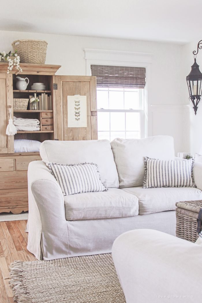 white slipcovered sofa living room stereo 25+ best ideas about couch slip covers on pinterest ...