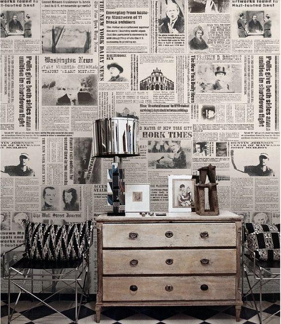 25+ best ideas about Newspaper Wallpaper on Pinterest