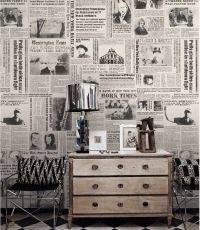 25+ best ideas about Newspaper Wallpaper on Pinterest