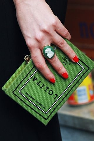 Reading material? Nah, just another clutch by Olympia Le-Tan.