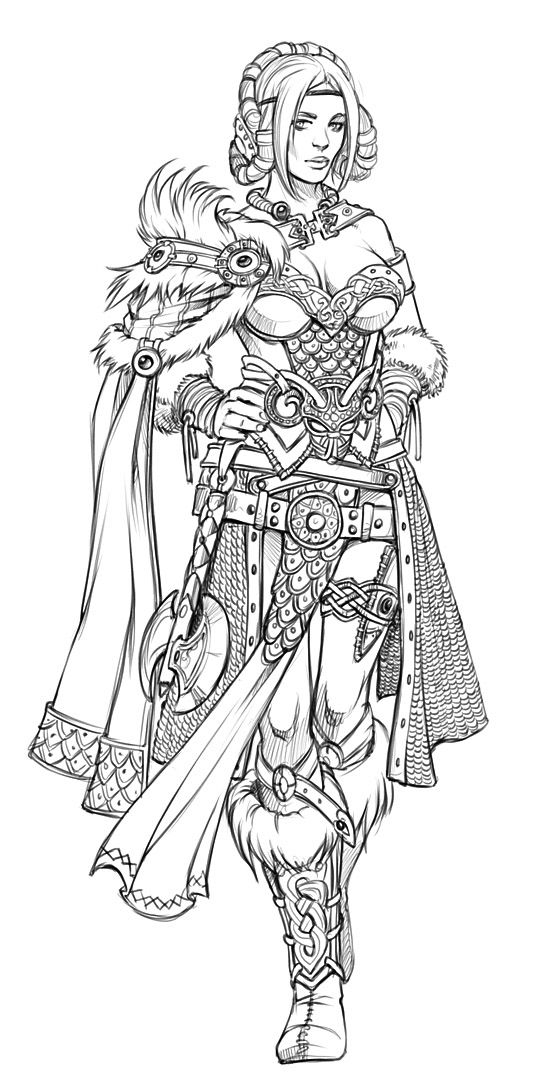 17 Best images about Coloring Pages/LineArt Fantasy on