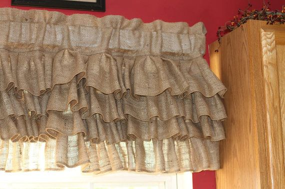 Burlap Curtain Burlap Valance Burlap Curtains Curtains