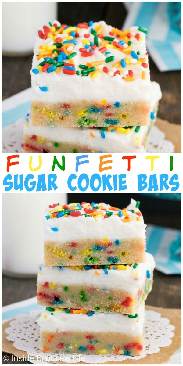 Sprinkles and frosting make these easy cookie bars the best way to do sugar cookies.