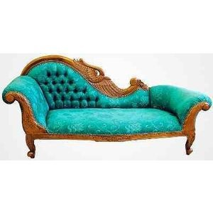 Turquoise Victorian fainting couch  Couch  Pinterest