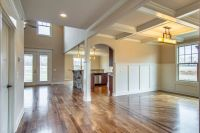 Craftsman wainscoting, coffered ceiling, walnut hardwood ...