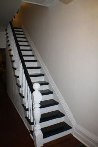 Paint Stair rail white with espresso accent color ...