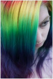 rainbow hair dyed & pastel