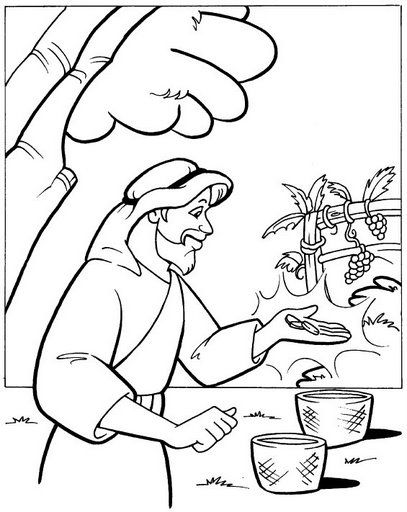 38 best images about Coloring: Bible: NT: Gospels