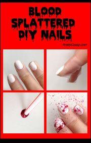 blood splattered nails halloween