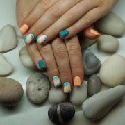 ideas peach nail