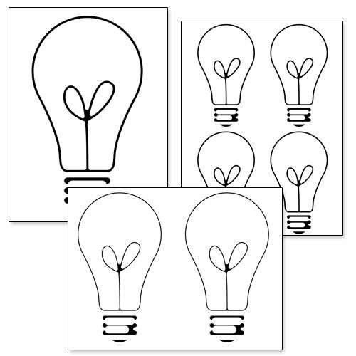 Printable Light Bulb Template from PrintableTreats.com