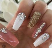 bling wedding nails ideas