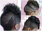 protective style ornate cornrow