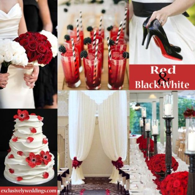 Black-White-and-Red-Wedding-Colors 3