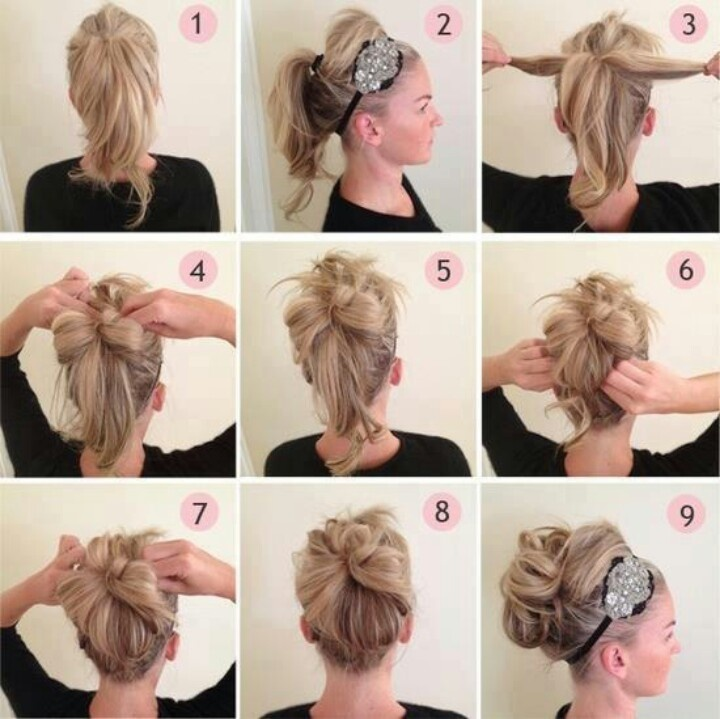 Cute  quick updo idea  Hair designsideas  Pinterest