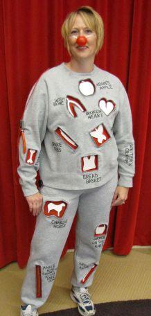Homemade Halloween costume. Operation Game guy.: