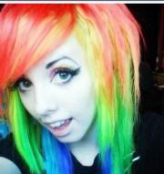 amazing emo hair. love