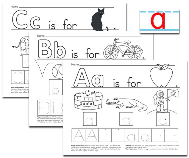 Worksheets to develop upper and lower case letter