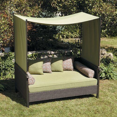 canopy daybed outdoor wicker sun sofa lounge how to build a wood table 17 best ideas about futon on pinterest | pallet ...