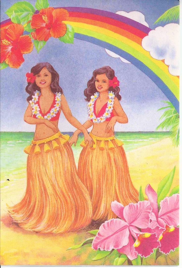 Vintage Note Card From Coral Cards Honolulu Hawaii Hula