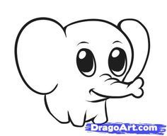 Best 25+ Simple elephant drawing ideas on Pinterest