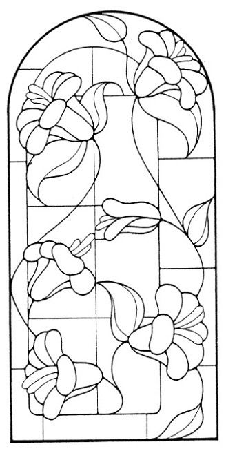 1674 best images about STAINED GLASS BOTANICALS on