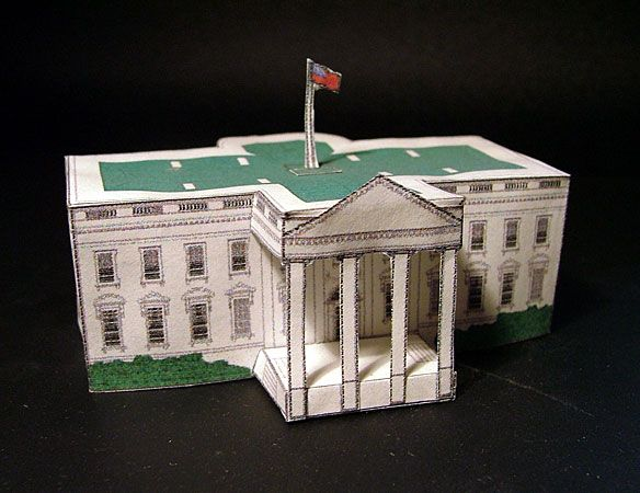 paper crafting White House papercraft printable paper