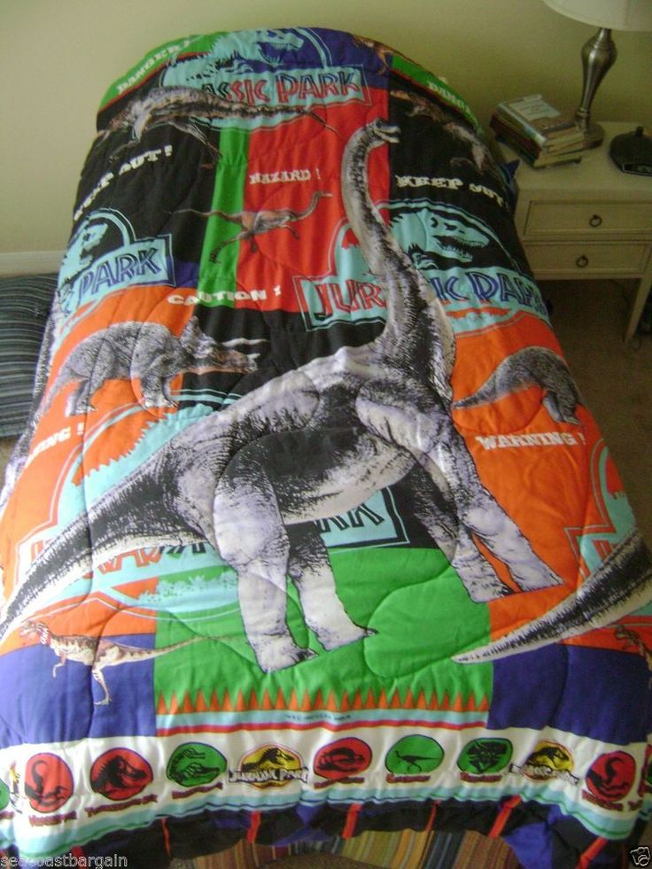 Jurassic Park Twin Bed Comforter Amblin Dinosaurs Movie