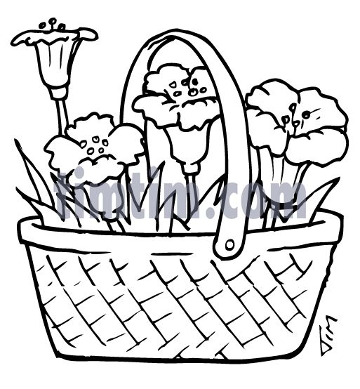 Vegetable Basket Sketch Basket Of Vegetables Drawing At