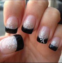 Black Tip Gel Nails