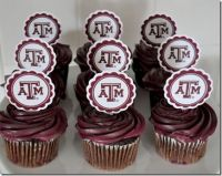 TEXAS A CUPCAKE TOPPERS http://theautocrathaley.blogspot ...