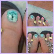 anchor toenail design cute toes