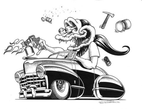 138 best images about HOT ROD CARTOONS on Pinterest