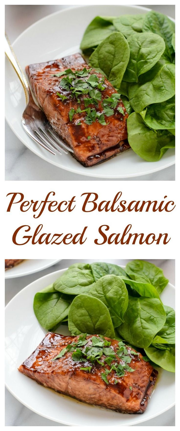 Perfect Balsamic Glazed Salmon. Easy, impressive and ready in 20 minutes! // Salmon : www.zayconfresh.c…