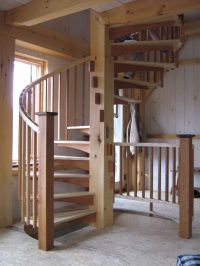 Timber frame Sprial Stair | Spiral Stairs | Pinterest ...