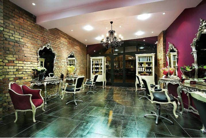 pink salon styling chair west elm everett charlotte murray is a unique hair in the heart of muswell hill, north london. #salon #hair ...