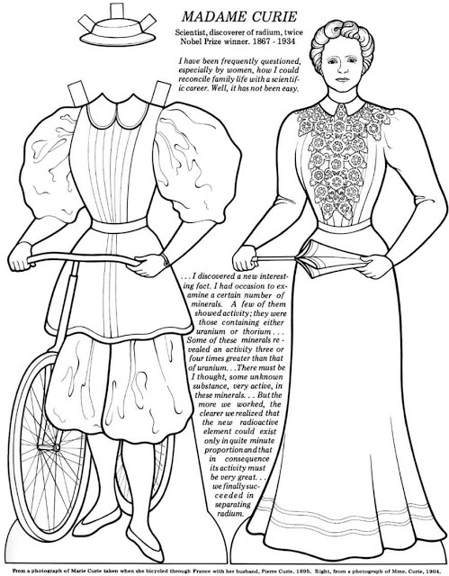 Marie Curie Coloring Page Sketch Coloring Page