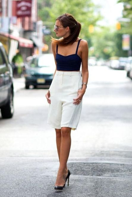 13 chic ways to wear long shorts