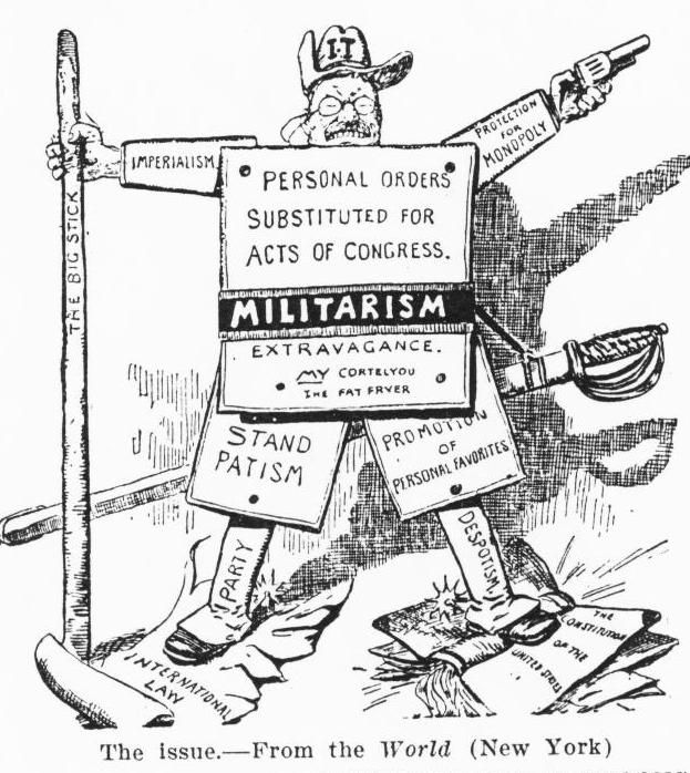 1904 political cartoon of President Theodore Roosevelt