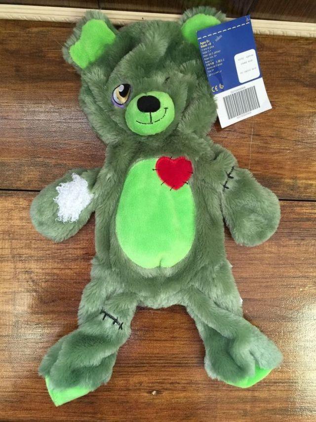 Build a bear zombie bear zombear halloween plush teddy new