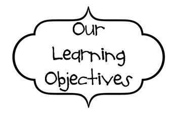 17 Best ideas about Posting Learning Objectives on