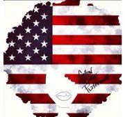 american flag natural hair silhouette