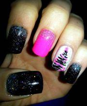 1000 ideas pink black nails